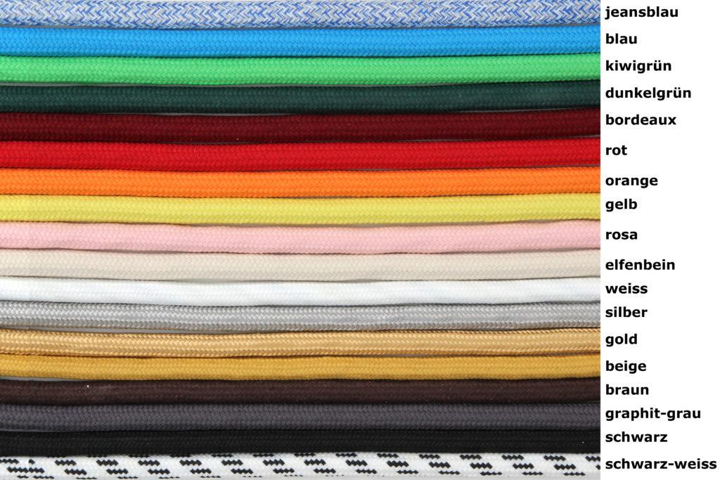 Textilkabel für Lampen - Österreich - DIY Lampenbau Österreich